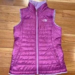 The North Face Pink Sherpa Reversible Vest